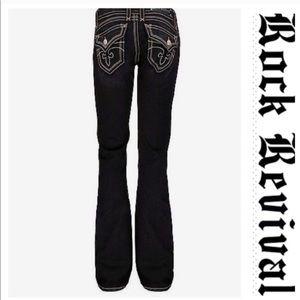 💕SALE💕Rock Revival Black Gwen Boot Premium Jeans